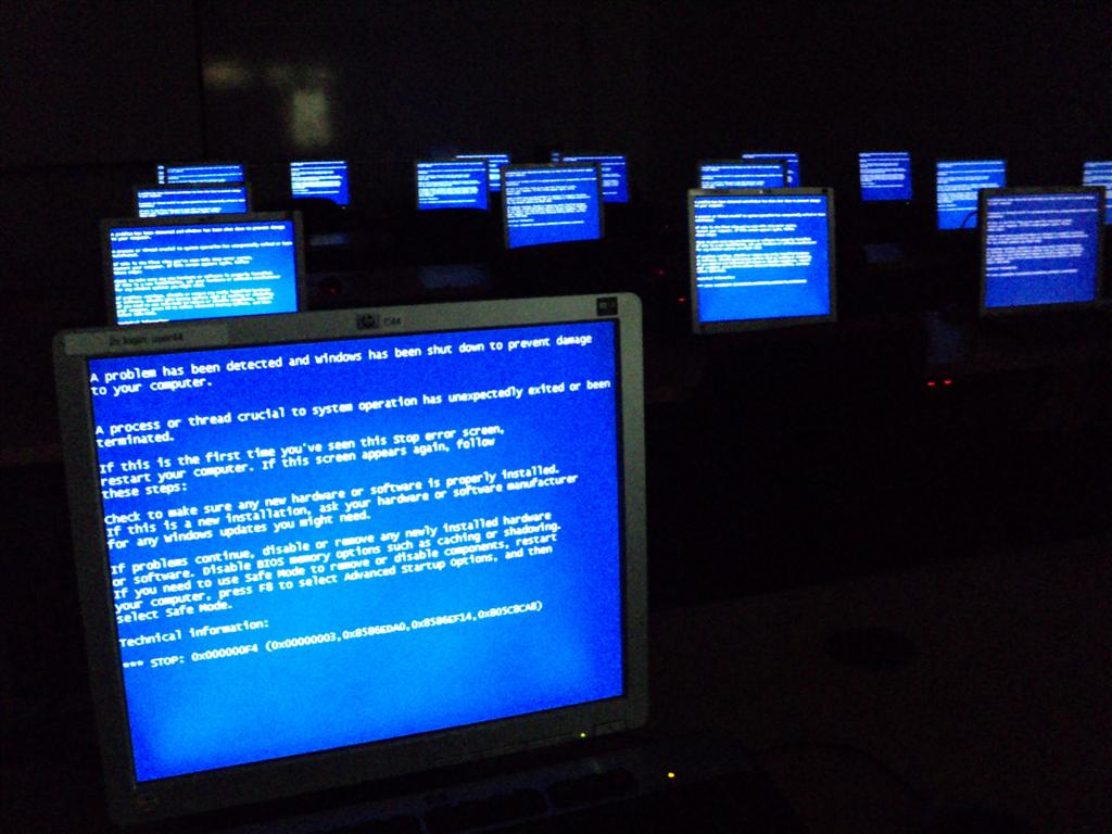 Room of computers with errors
